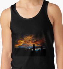 Camisetas de tirantes para hombre  Golden Sunset Indigo Sky