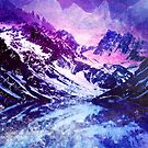Abstract Snowy Mountains by Jacqui Frank