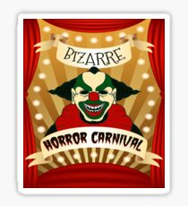Bizarre Horror Carnival Scary Clown Sticker