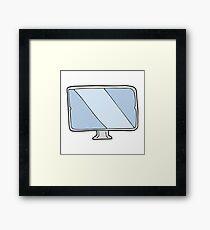 cartoon screen Framed Print