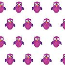Purple & Purple Owl (Pattern) by Adamzworld