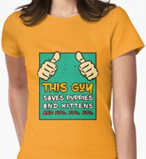 This Gun Saves Puppies And Kittens - Pet Lover Design T-Shirt