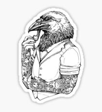 The Crow Man Sticker