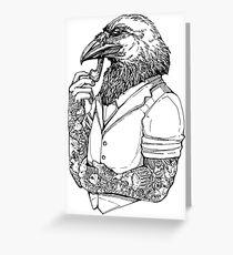 The Crow Man Greeting Card