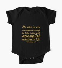 """He who is not... """"Muhammad Ali"""" Inspirational Quote Kids Clothes"""
