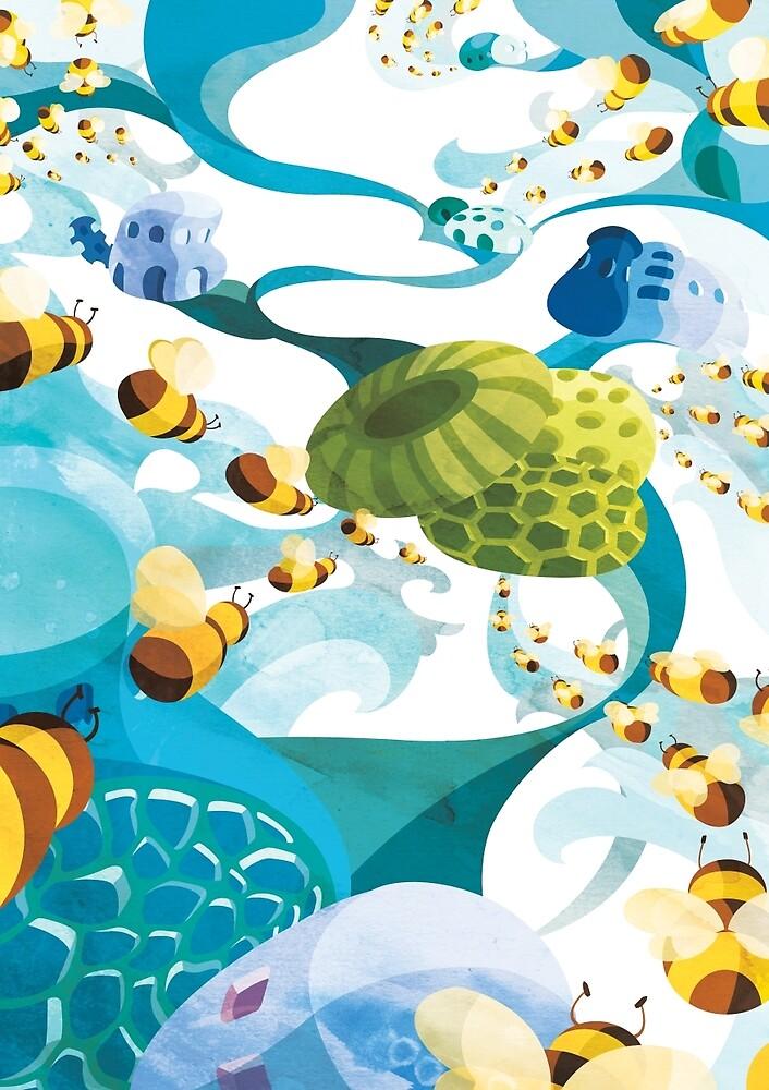 Bees by Helsa Tanaya