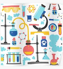 Chemistry laboratory equipment  Poster