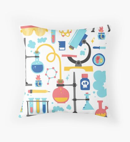 Chemistry laboratory equipment  Throw Pillow