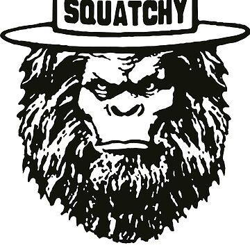 Squatchy Sasquatch Funny by fathanarsyad