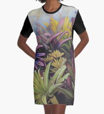 Preying in the Bromeliads Graphic T-Shirt Dress