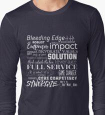 Corporate Buzzwords Business Jargon Typography Art Long Sleeve T-Shirt