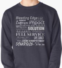 Corporate Buzzwords Business Jargon Typography Art Pullover