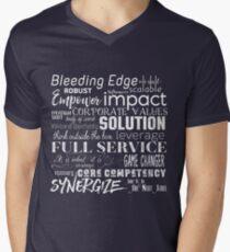 Corporate Buzzwords Business Jargon Typography Art Men's V-Neck T-Shirt