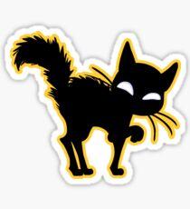Black cat Sticker Sticker