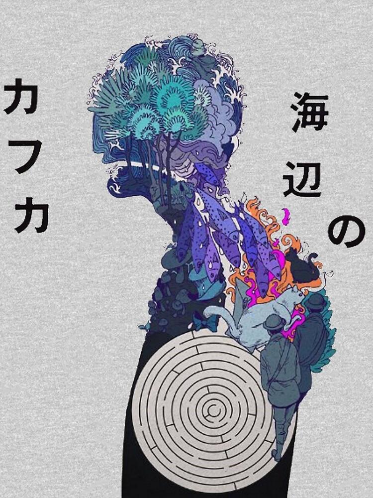 Kafka am Ufer - Illustration Merch von GoldenGirlStore