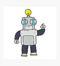 cartoon robot Photographic Print
