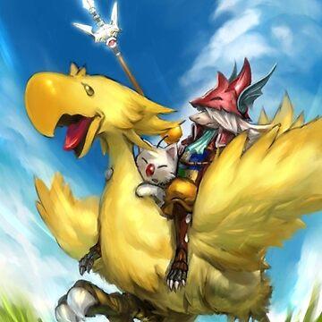 Happy Chocobo by FantasyLight