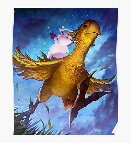 Chocobo & Mogry Poster