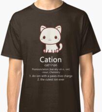 Niedliches Wissenschafts-Katzen-T-Shirt Kawaii Kation-Chemie Pawsitive Classic T-Shirt