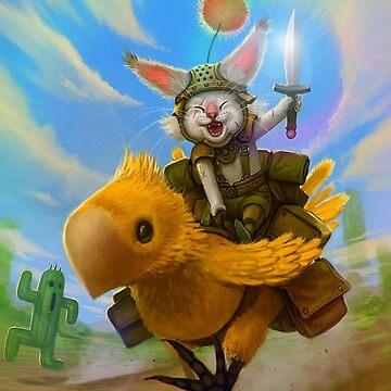 Moogle Chocobo by FantasyLight