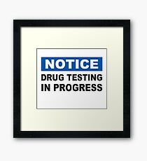 Drug Testing in Progress Framed Print