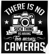 Photography: no such thing having too many cameras Poster