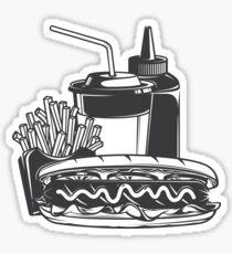 Hot dog combo Sticker