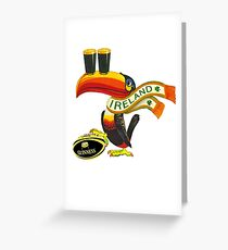 Guinness Irish Rugby Toucan Greeting Card