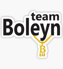 Anne Boleyn 'Team Boleyn' slogan with B necklace Sticker
