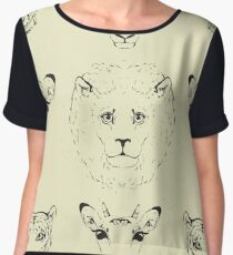 Heads of African animals. Chiffon Top