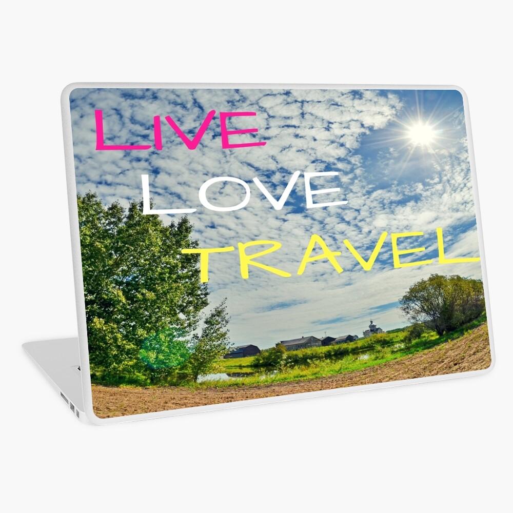 Live Love Travel Laptop Skin