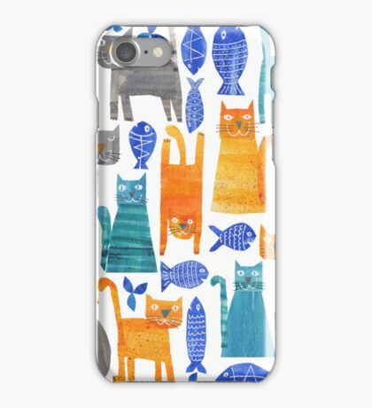 Crazy cats iPhone Case/Skin