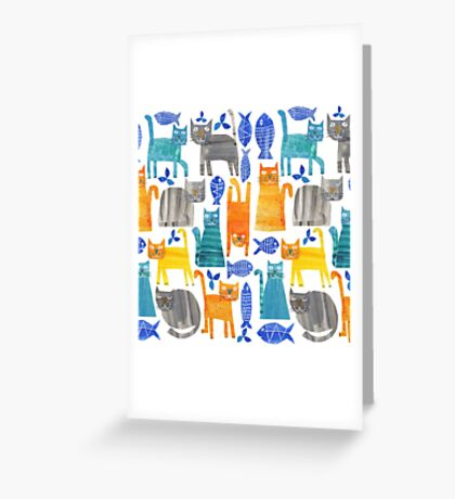 Crazy cats Greeting Card