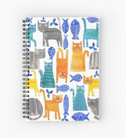 Crazy cats Spiral Notebook