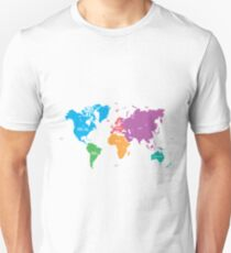 Continents World Map Unisex T-Shirt