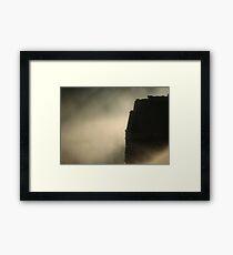 Narrowboat Mist Framed Print