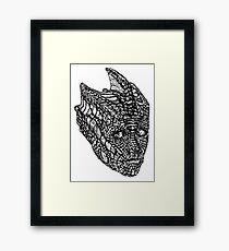 Madame Vastra (blackline) Framed Print
