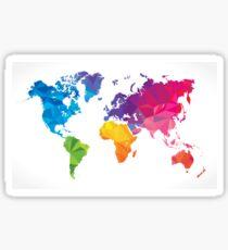 Low poly world map Sticker