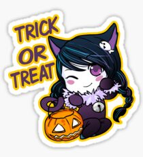 Zoe Trick or Treat Sticker Sticker