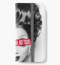Not today, Satan. Not today. iPhone Wallet/Case/Skin