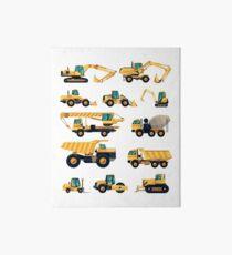 Construction machiner Art Board