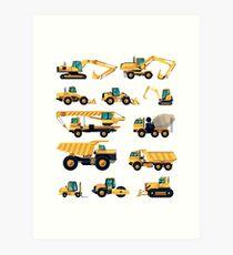 Construction machiner Art Print