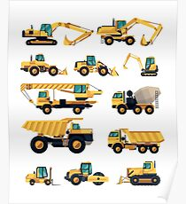 Construction machiner Poster