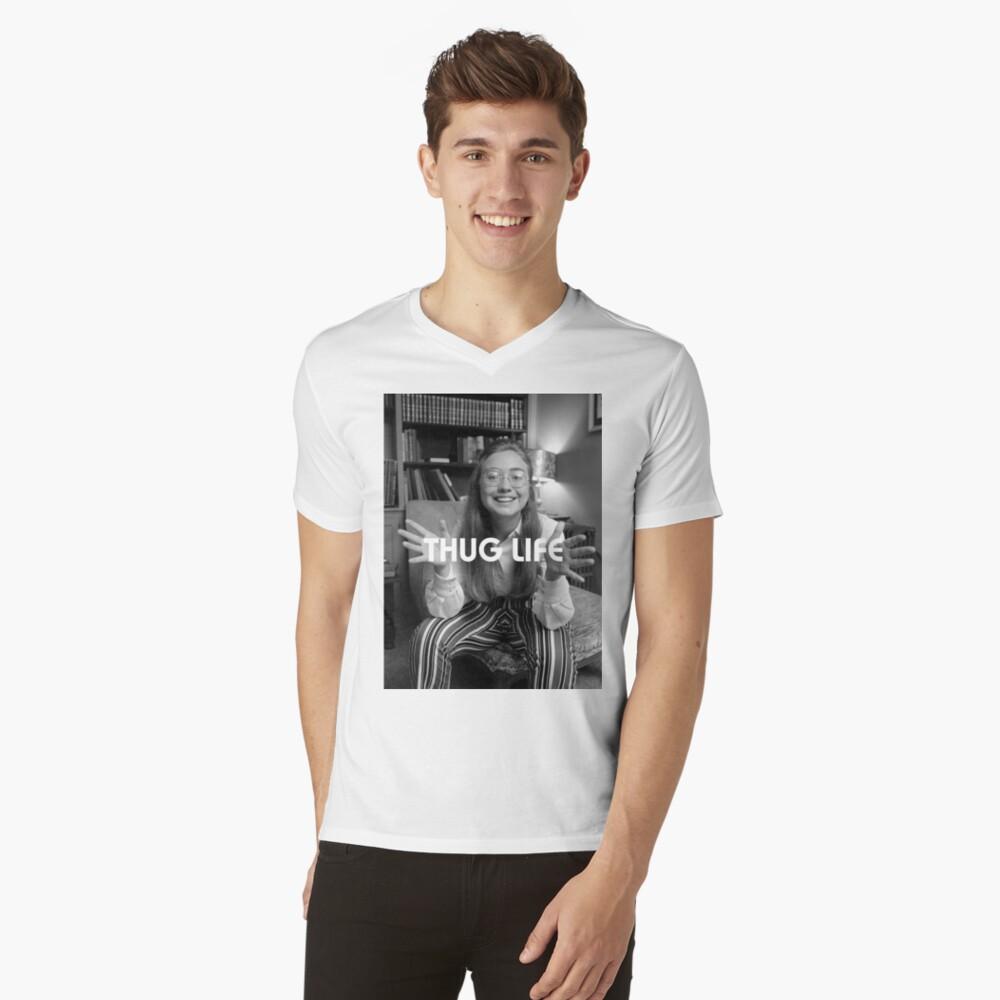 Throwback - Hillary Clinton Mens V-Neck T-Shirt Front