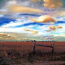Fields Under a Swirling Sky by Brian Gaynor