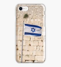 Israel, Jerusalem old city the wailing wall The Israeli flag iPhone Case/Skin