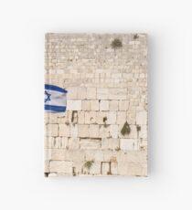 Israel, Jerusalem old city the wailing wall The Israeli flag Hardcover Journal