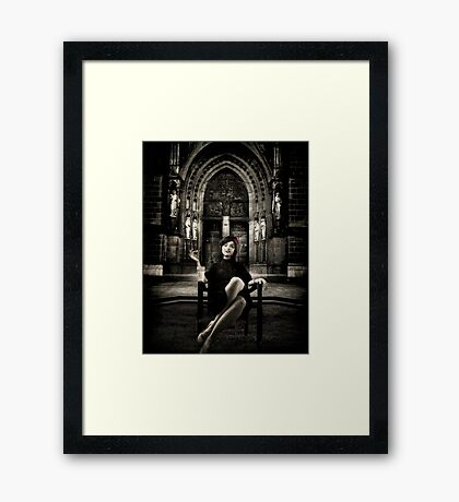 The Widow... Framed Print