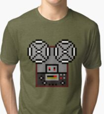 Reel-To-Reel Tape Recorder Tri-blend T-Shirt