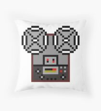 Reel-To-Reel Tape Recorder Throw Pillow